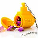 1pc tè sommergibile giallo sciolto foglia di erbe spezie infusore spezie silicone