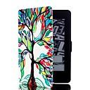 Image of colorato albero modello in pelle caso corpo pieno con il basamento e la carta di slot per Amazon Kindle Paperwhite / Paperwhite kindle 2