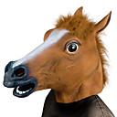 Cabeza de Caballo Máscaras de Halloween Accesorios de Halloween Horripilante Gracioso Cabeza de Caballo Disfraz Terror Caucho Fun  Whimsical Fiesta de disfraces Piezas Adulto Chico Chica Juguet