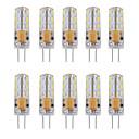 10pcs 1 W 460 lm G4 Luces LED de Doble Pin Tubo 24 Cuentas LED SMD 3014 Decorativa Blanco Cálido Blanco Fresco 12 V / 10 piezas / Cañas