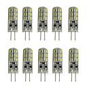 10pcs 1.5w g4 bombilla led bi-pin 24 smd 3014 dc 12 v blanco cálido blanco frío iluminación del hogar