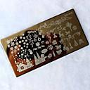 1pc navidad del clavo de DIY sello de imagen plantilla de la manicura placa de estampación que estampa la impresión de transferencia de