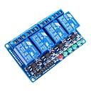 Image of 4 canali modulo relè 5V opto-isolatore ad alto livello di trigger - blu