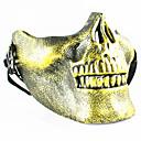 cráneo esqueleto airsoft paintball media cara protector de engranajes máscara guardia halloween masquerade cosplay partido traje prop