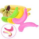 caso del protector del plátano lindo viaje contenedor almuerzo al aire libre del color del almacenamiento de caja de la fruta opcional