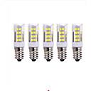 Image of 5 pezzi 5W 2700-3000/6000-6500lm E14 LED a pannocchia T 51 Perline LED SMD 2835 Bianco caldo Luce fredda 220V