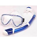 Maschere subacquee Diving Pacchetti Snorkels bambini Sub e immersioni Nuoto Rosso Blu PVC Vetro Silicone