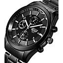 BOSCK Hombre Reloj Militar Reloj de Pulsera Cuarzo Acero Inoxidable Negro 50 m Luminoso Noctilucente Cool Analógico Encanto Casual Moda - Negro Gris Rosa Dos año Vida de la Batería