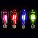 1pc 4 W 360 lm E26 / E27 Bombillas de Filamento LED ST64 4 Cuentas LED COB Decorativa Rojo Azul Verde 220-240 V / 1 pieza / Cañas