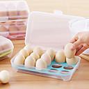 1pcs 15 cocina en blanco nevera huevos almacenamiento caja titular preservación caja portátil plástico poner huevos caja hogar cocina