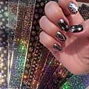 16 pcs Cinta de tela metálica arte de uñas Manicura pedicura Moda Diario / Cinta adhesiva