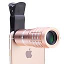 10 × lente del telescopio universal para los teléfonos móviles iPhone / Samsung plata / oro / color de rosa / negro