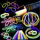 100 paquete de fiesta de palo de resplandor - 100 colores mixtos 8 glowsticks premium con conectores para hacer pulseras gafas flores