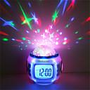 1pc Reloj despertador musical Sky Projector NightLight Colorido Pilas AAA alimentadas Para Niños / Color variable / Cumpleaños Batería