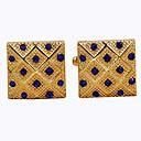 Rektangulær Gylden Manchetter Pænt tøj Mode Daglig Formel Herre Kostume smykker