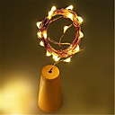 1 unid 10led 1 m tapón de la botella de vino solar cobre tira de hadas exterior decoración del partido novedad noche lámpara diy
