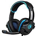sades 708gt spil headset med mikrofon til computer pc gamer