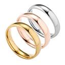 Image of Per uomo Band Ring - Argento placcato, Placcato in oro Di tendenza 6 / 7 / 8 / 9 / 10 Oro / Argento / Rose Per Quotidiano