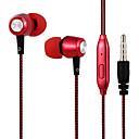 Image of 31als3b01 placcatura stereo basso filo degli auricolari treccia auricolari in earbus dell'orecchio 3.5mm con microfono per iphone mp3