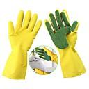 1 par de guantes de limpieza de lavado plato de cocina esponja dedos de goma del hogar
