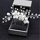 Mujer Cruzado,Tejido Legierung Cristal Peinetas-Simple Flor Boda Floral