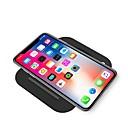 10w doblar el cargador rápido del teléfono móvil del qi que carga el cargador rápido para el iphone xs iphone xr el iphone xsmax 8 samsung s9 más s8 nota 9 o el receptor incorporado el teléfono inteli