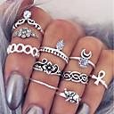 10pcs Mujer En Capas Juego de anillos - Legierung Cruz, Flor damas, Simple, Diseño Único Joyas Plata Para Diario Cita 9