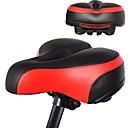 Image of Selle di bicicletta / Selle di bicicletta Extra largo Comfort Cuscino pelle sintetica Gel di silice Ciclismo Bici da strada Mountain bike Nero Rosso Blu