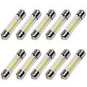 10pcs 36mm Coche Bombillas 1 W COB 80 lm 1 LED Luz de Intermitente / Luces interiores Para Universal