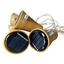 1m Cuerdas de Luces 10 LED SMD 0603 Blanco Cálido / Blanco / Multicolor Impermeable / Solar / Decorativa Funciona con Energía Solar 3pcs