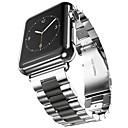 Acero Inoxidable Ver Banda Correa para Apple Watch Series 3 / 2 / 1 Negro / Dorado 23cm / 9 pulgadas 2.1cm / 0.83 Pulgadas