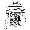 Cars & Motorbikes ILPALADINO Women's Long Sleeve Cycling Jersey Winter Black / White Polka Dot Plus Size Bike Jersey Top Mountain Bike MTB Road Bike Cycling Breathable Quick Dry Ultraviolet Resistant Sports Clothing