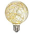 1pc 3 W 200-300 lm E26 / E27 Bombillas de Filamento LED G95 33 Cuentas LED SMD Decorativa / Estrellado Blanco Cálido 85-265 V