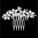 Mujer Floral,Perla Artificial Brillante Legierung Peinetas-Moda Floral / Forma de Hoja