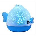 1pc Peces Luz de noche LED / Sky Projector NightLight / Luz de la noche del cuarto de niños Tricolor USB Para Niños / Control remoto / Lámpara de la atmósfera 5 V
