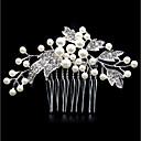 Mujer Perla Artificial Brillante Legierung Peinetas-Moda Floral / Forma de Hoja