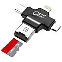 LITBest MicroSD / MicroSDHC / MicroSDXC / TF USB 2.0 / Micro USB / Iluminación Lector de tarjetas Móvil Android / Computador / Para iPhone