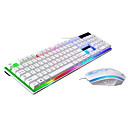 Image of LITBest USB cablato Tastiera del mouse combinata Colore Graduale e Sfumato / retroilluminato tastiera Gaming Da gioco / Impermeabile Gaming mouse 1600 dpi