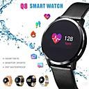 Image of q8 smart watch schermo a colori smartwatch uomini smart tracker fitness monitor della frequenza cardiaca smart wristband