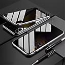 Image of custodia magnetica custodia biadesiva per apple iphone 11 pro 11 pro max 11 custodia antiurto magnetica full body custodia in vetro temperato tinta unita x / xs xr xs max 7 plus / 8 plus 8/7 custodia