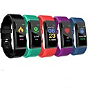 'Id115 Plus Smart Wristband Bluetooth Fitness Tracker Support Notify/ Heart Rate Monitor Waterproof Sports Smartwatch Compitable Samsung/ Iphone/ Android Phones