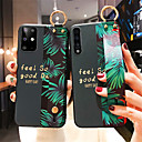 'Case For Samsung Galaxy S20 S20plus S10 S10e Cover Trendy Artist Leaf Flower Soft Wrist Strap Phone Holder Case For Samsung A30s A50s A41 A31 A81 A91 A51 A71 Note 10 10plus