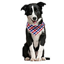 'Dog Dog Bandana Dog Bibs Scarf Triangle Bibs Accessories Dog Clothes Adjustable Red / Orange Red / Blue Red / Green Costume Husky Golden Retriever Corgi Cotton Plaid / Check Casual / Sporty Cute S M