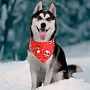 'Dog Cat Bandanas  Hats Dog Bandana Dog Bibs Scarf Cartoon Party Cute Christmas Party Dog Clothes Adjustable Red Blue Costume Cotton