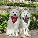'Dog Cat Bandanas  Hats Dog Bandana Dog Bibs Scarf Cartoon Floral Botanical Party Cute Christmas Party Dog Clothes Adjustable White / Red Red / Green White Costume Cotton