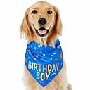'Dog Birthday Bandana Boy, Soft Pet Scarf, Happy Birthday Boy Bandana Print For Dog Birthday Dog Bandana