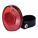 'Bicycle Bike Safety Light Caution Warning Reflector Disc Rear Pannier Racks Led Light Lamp Tail Rear Lights For Mountain Roads Night Cycling Bicycle Cycling (red)