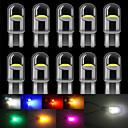 '10 Pcs T10 Led W5w Led Wy5w 168 501 2825 Cob Led Car License Plate Light Wedge Parking Light Side Door Bulb Instrument Lamp Auto