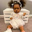 Image of 22 pollice Bambole Reborn Per bambino e infante Bambine Bambola africana Bambola Reborn Bambola nera Saskia realistico Fatto a mano Simulazione Ciglia applicate a mano Testa floscia Tessuto Vinile