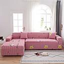 Image of stampa griglia rosa 1 pezzo copridivano copridivano protettore per mobili fodera per divano morbido elasticizzato tessuto jacquard spandex super adatto per divano 1 ~ 4 e divano a forma di l, facile